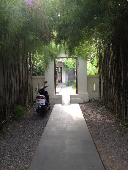entrance to the villas