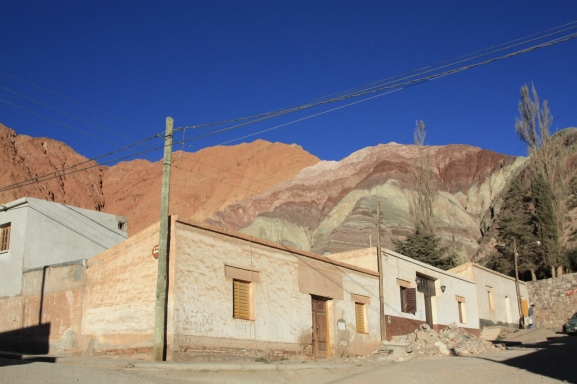 seven colour hill in Purmamarca