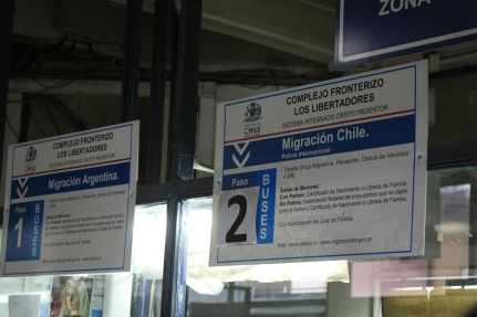 this is efficiency. the two immigration counters right next to each other!